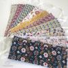 Masques afnor: tissu floral et géométrique