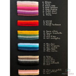 Nuancier de couleurs pour tricotins